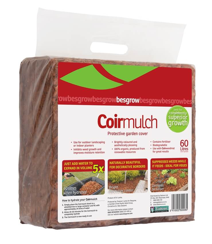 Besgrow Coir mulch 60L Bag - Protective garden cover