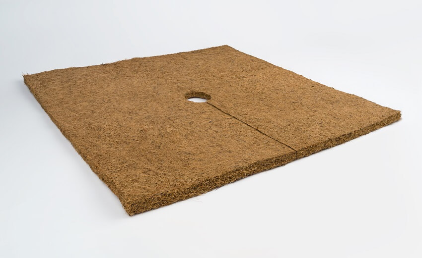 Besgrow Coir Weed Mat Square made from coco coir