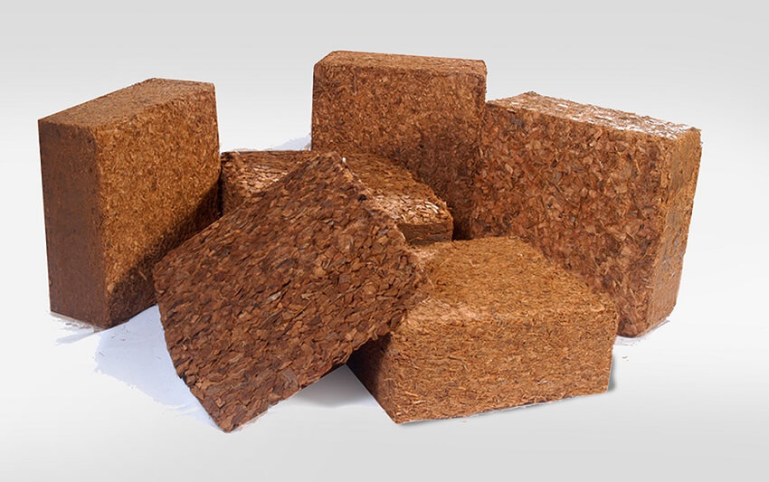 Coir compressed bales - made from coco coir